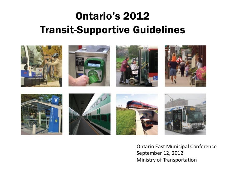 Transit supportive guidelines   overview