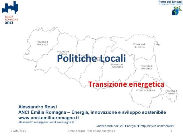 Politiche Locali                                                        Transizione energetica     Alessandro Rossi     AN...