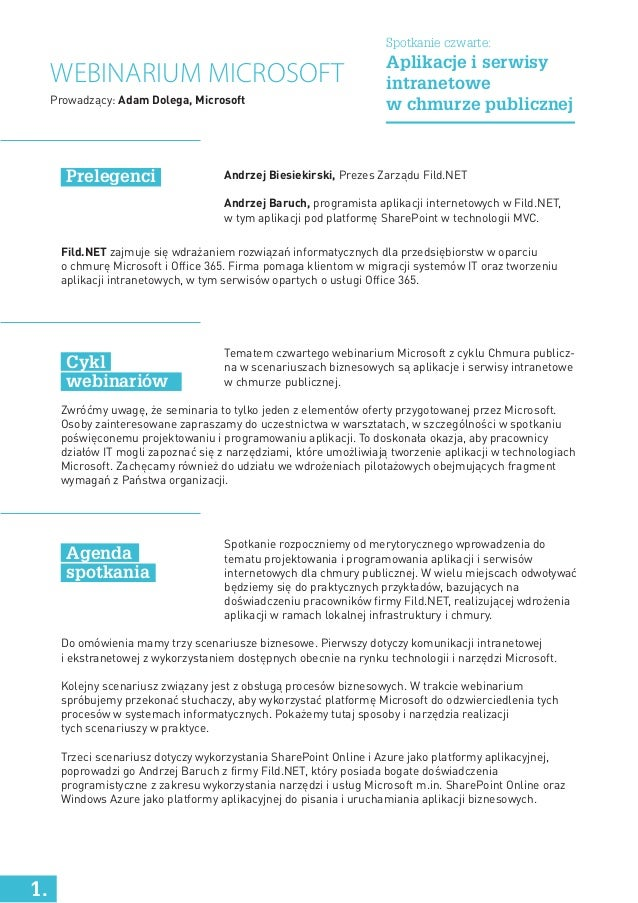 Andrzej Biesiekirski, Prezes Zarządu Fild.NET Andrzej Baruch, programista aplikacji internetowych w Fild.NET, w tym aplika...