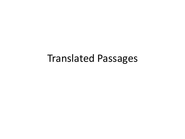 Translated Passages