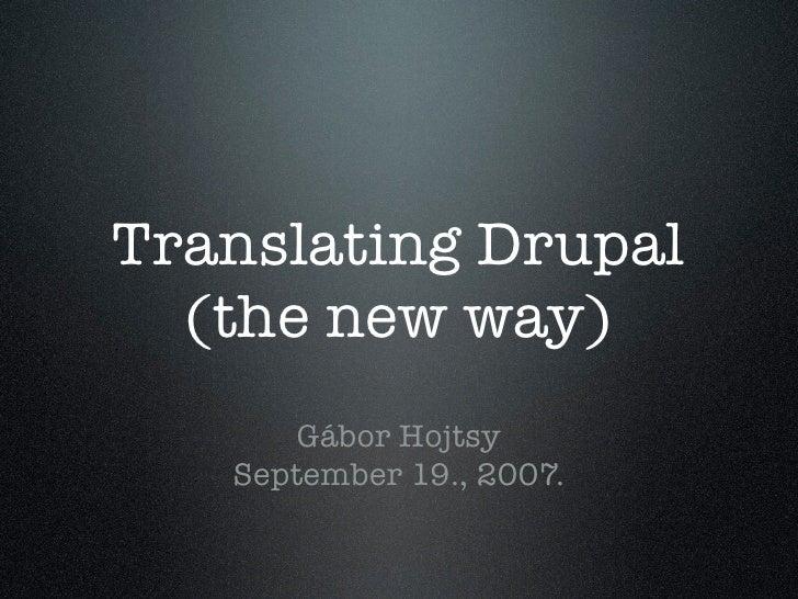 Translating Drupal