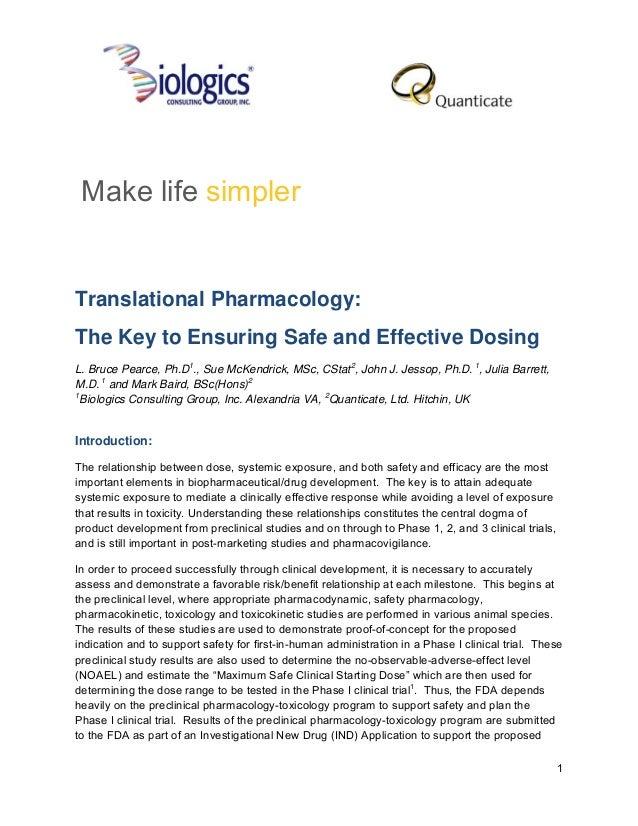 Translational pharmacology