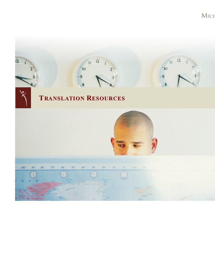 Translation Resources