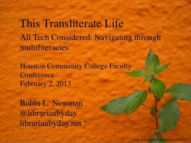 This Transliterate Life