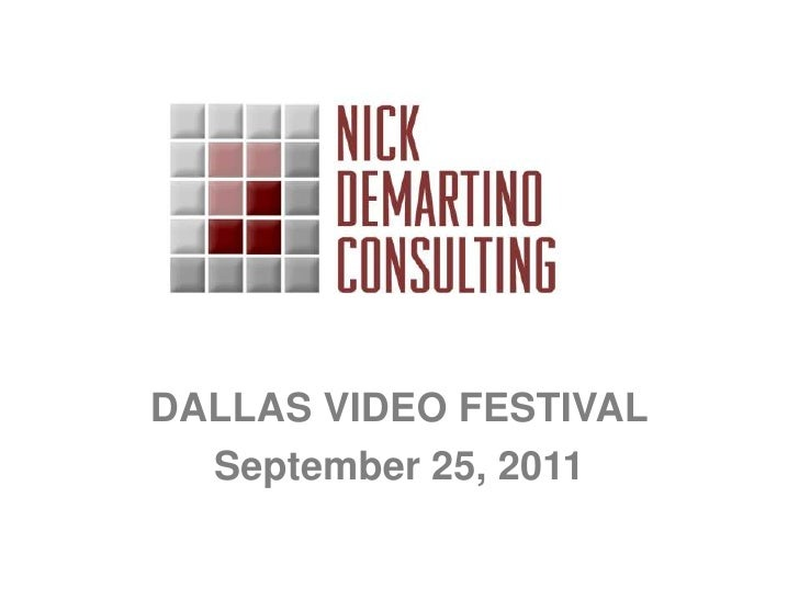 DALLAS VIDEO FESTIVAL<br />September 25, 2011<br />