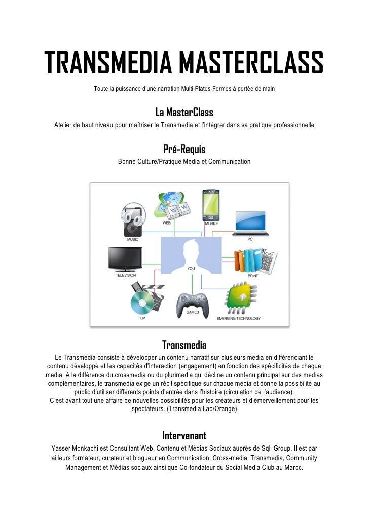 Transmedia MasterClass