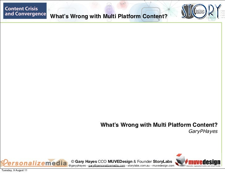 What's Wrong with Multi Platform Content?                                                                                 ...