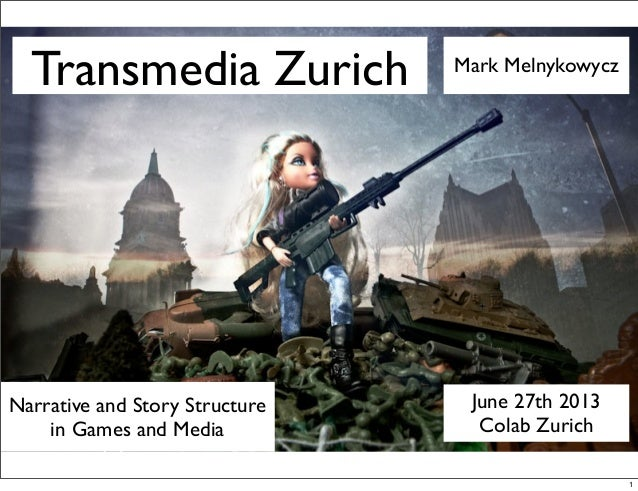 Transmedia Zurich June 27th 2013 Colab Zurich Mark Melnykowycz Narrative and Story Structure in Games and Media 1