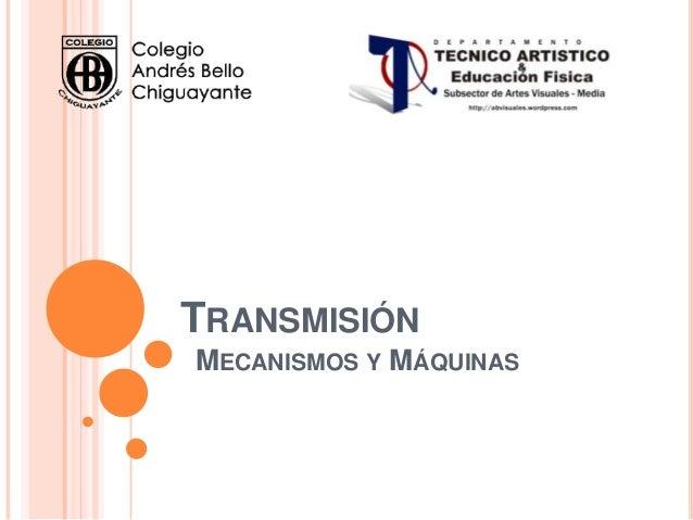 Transmisión mecanica