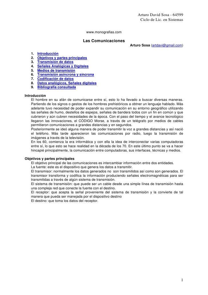 Arturo David Sosa - 64599                                                                          Ciclo de Lic. en Sistem...