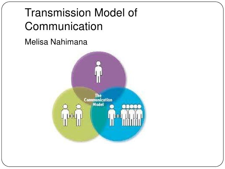 Transmission Model of Communication<br />Melisa Nahimana<br />