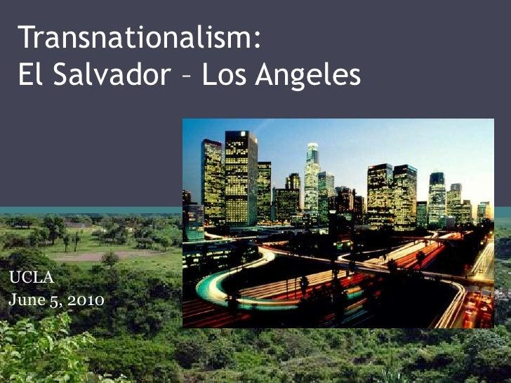 Transnationalism - El Salvador