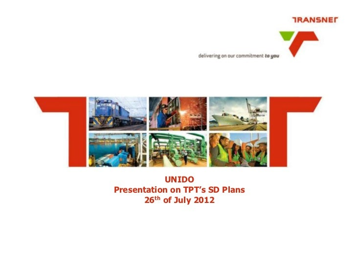 UNIDOPresentation on TPT's SD Plans      26th of July 2012