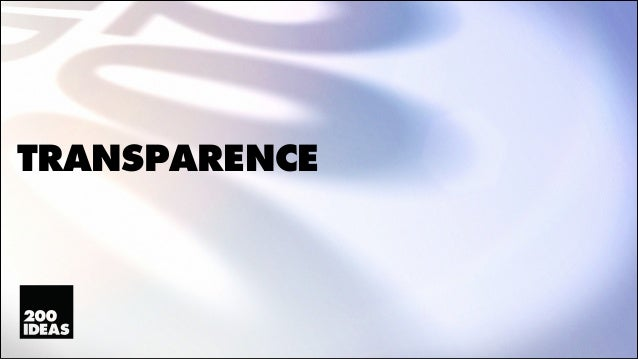 Transparence (2013)