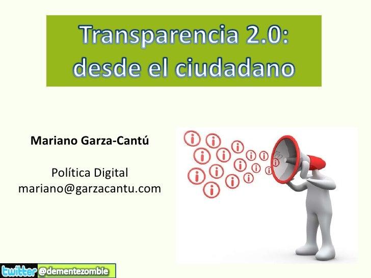 Transparencia 2.0