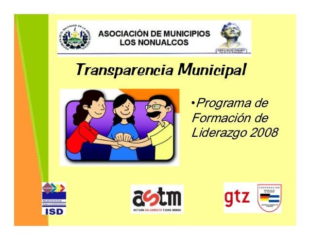 Transparencia municipal - Aurora Cubías