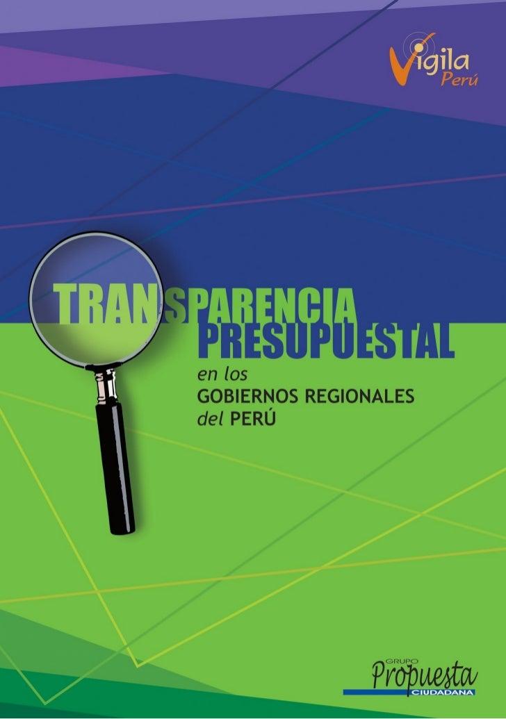 Transparencia Presupuestal en los Gobiernos Regionales del Perú