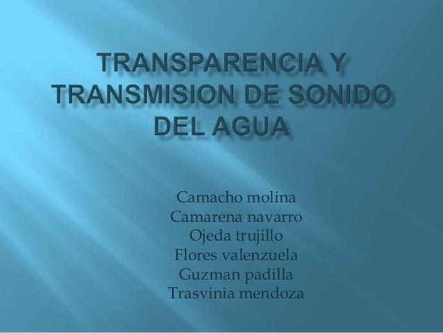 Transparencia y transmision de sonido del agua