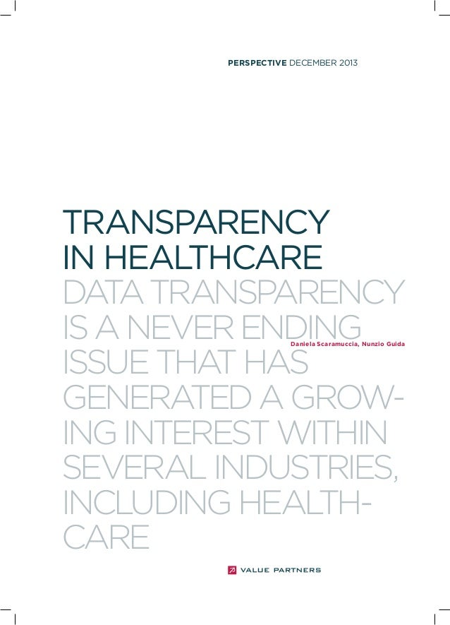 Transparency health sector 122013