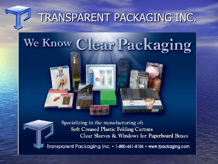 Transparent Packaging Clear Foldin Cartons
