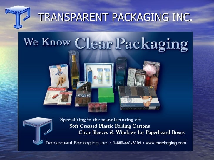 Transparent Packaging Clear Foldin Cartons