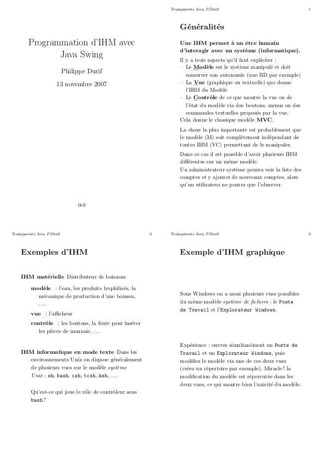 Transparents Java, P.Durif                                1                                                               ...