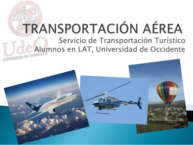 Transportación aérea