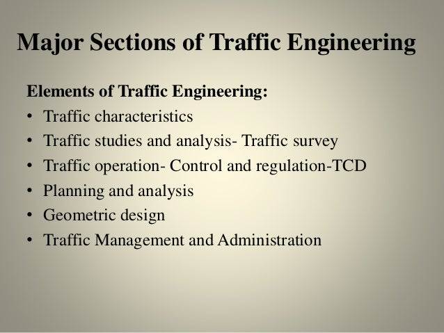 Street Traffic Studies Traffic Studies And