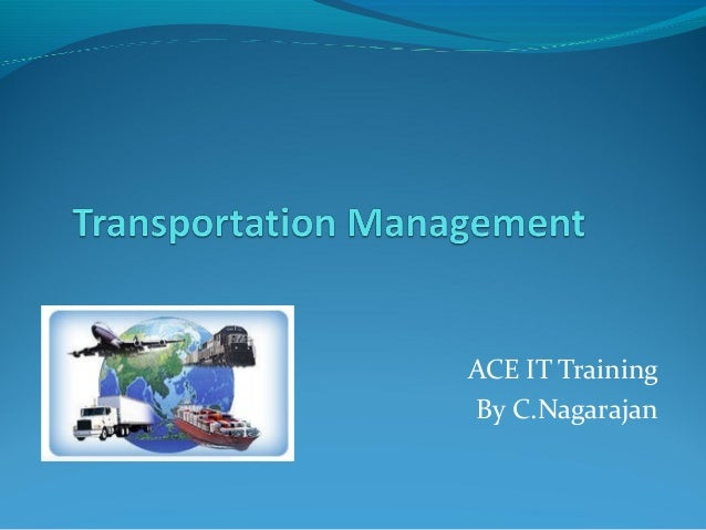 ACE IT TrainingBy C.Nagarajan