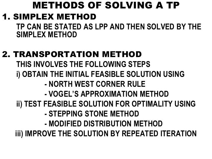 modified distribution method and vogel s approximation Solving the transportation problem using fuzzy modified distribution method snareshkumar1,  fuzzy vogel's approximation method,.