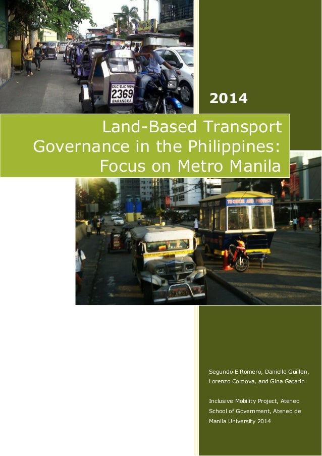 Land-Based Transport Governance in the Philippines: Focus on Metro Manila