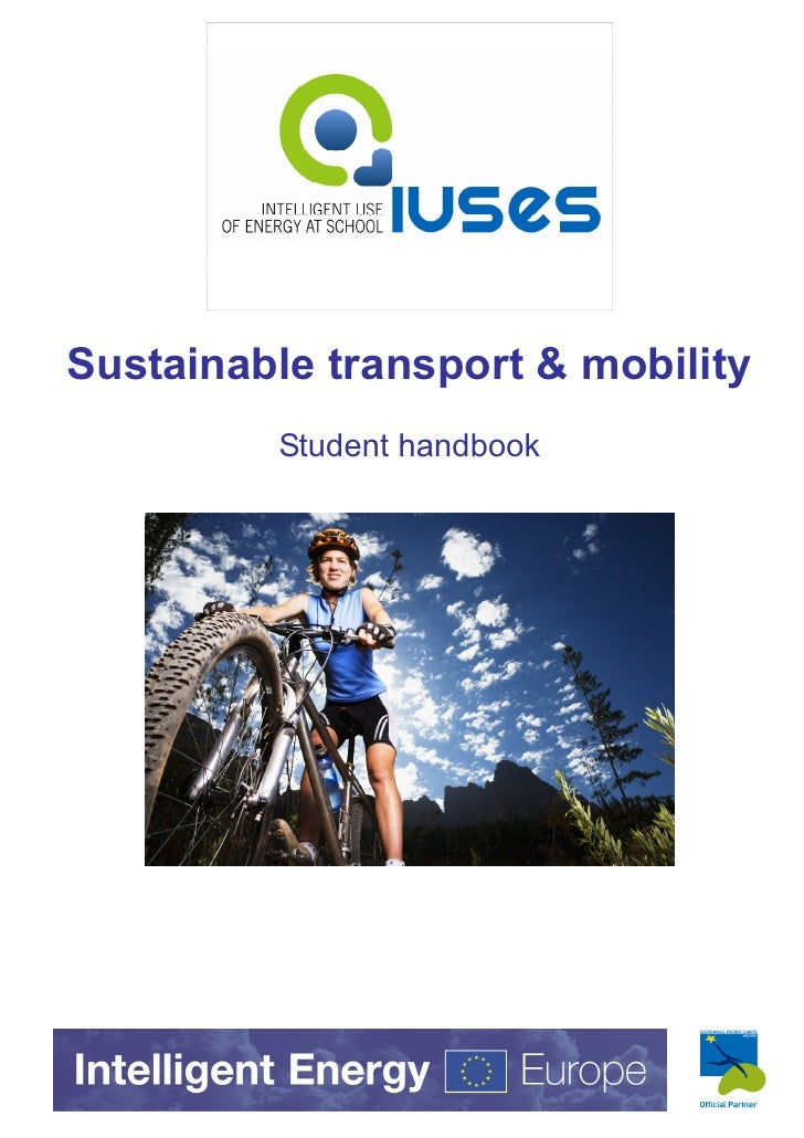 Sustainable transport & mobility         Student handbook