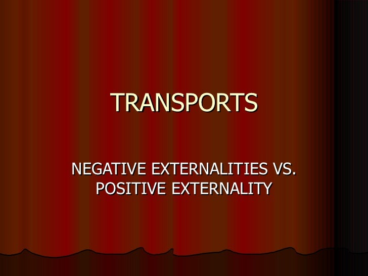 Transports and externalities