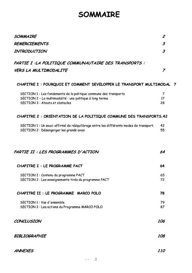 - - 2 SSOOMMMMAAIIRREE SSOOMMMMAAIIRREE 22 RREEMMEERRCCIIEEMMEENNTTSS 33 IINNTTRROODDUUCCTTIIOONN 33 PPAARRTTIIEE II ::LLA...