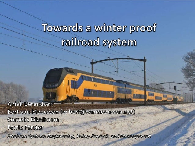 Transport Thursday 18 October 2012 Winter Proof Railroad System