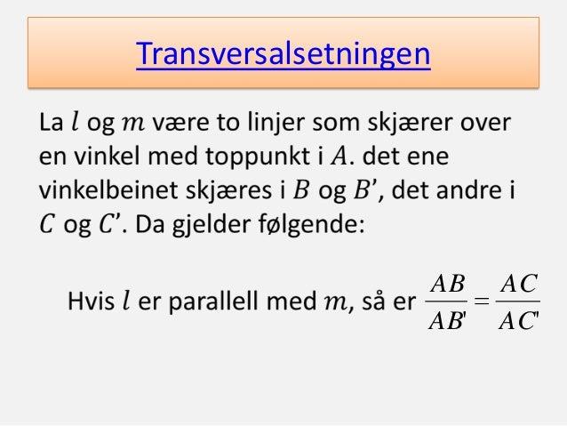 Transversalsetningen  AB AB'  AC AC'