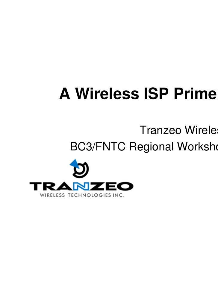 Tranzeo%20 %20 Wireless%20 Isp%20 Primer