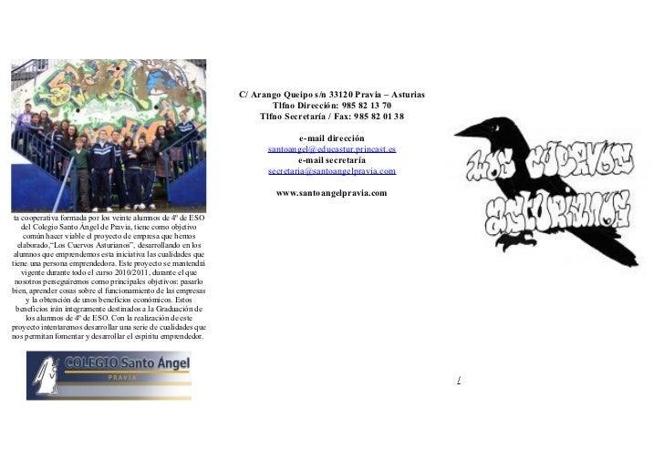 C/ Arango Queipo s/n 33120 Pravia – Asturias                                                                        Tlfno ...
