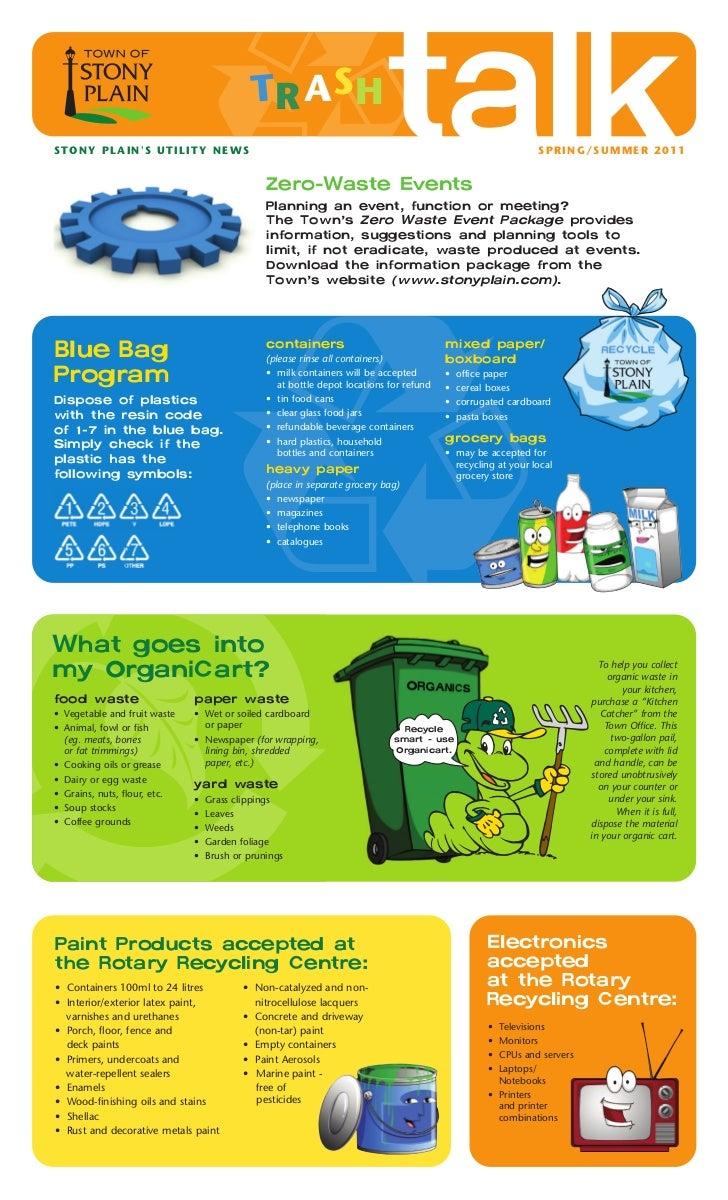 Trash Talk Newsletter (Spring/Summer 2011)
