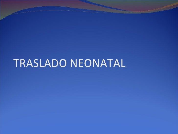 Traslado prenatal 2010