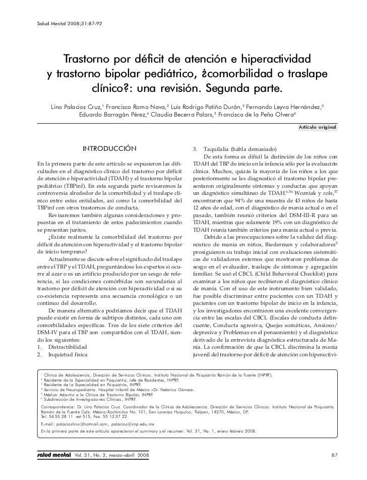 Trastorno por déficit de atención e hiperactividad y trastorno bipolar
