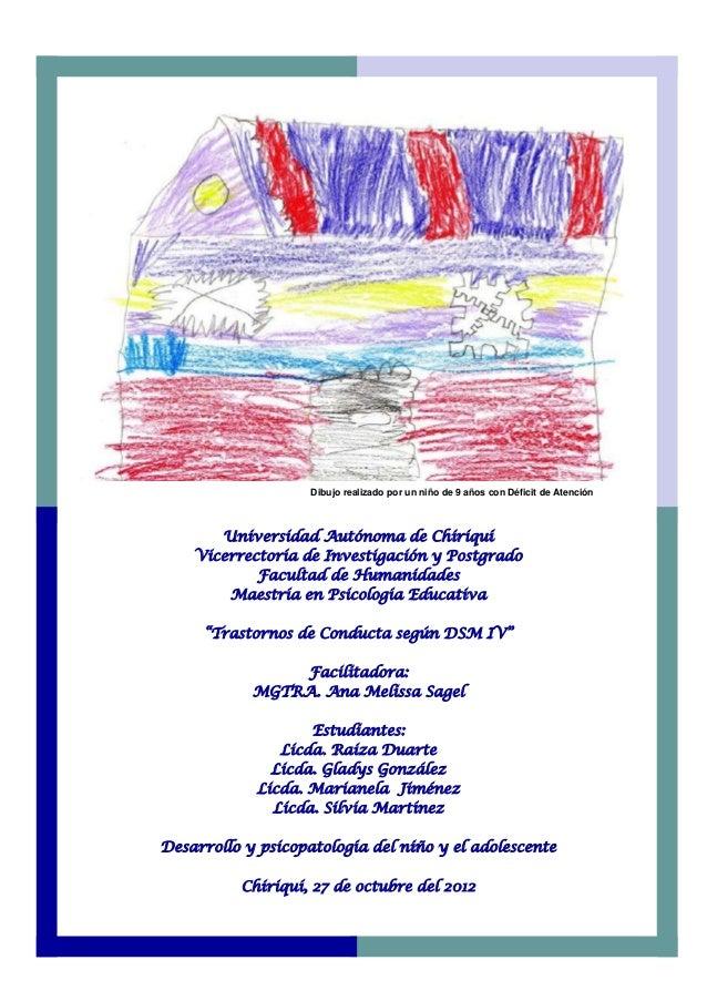 Universidad Autónoma de Chiriquí Vicerrectoría de Investigación y Postgrado Facultad de Humanidades Maestría en Psicología...