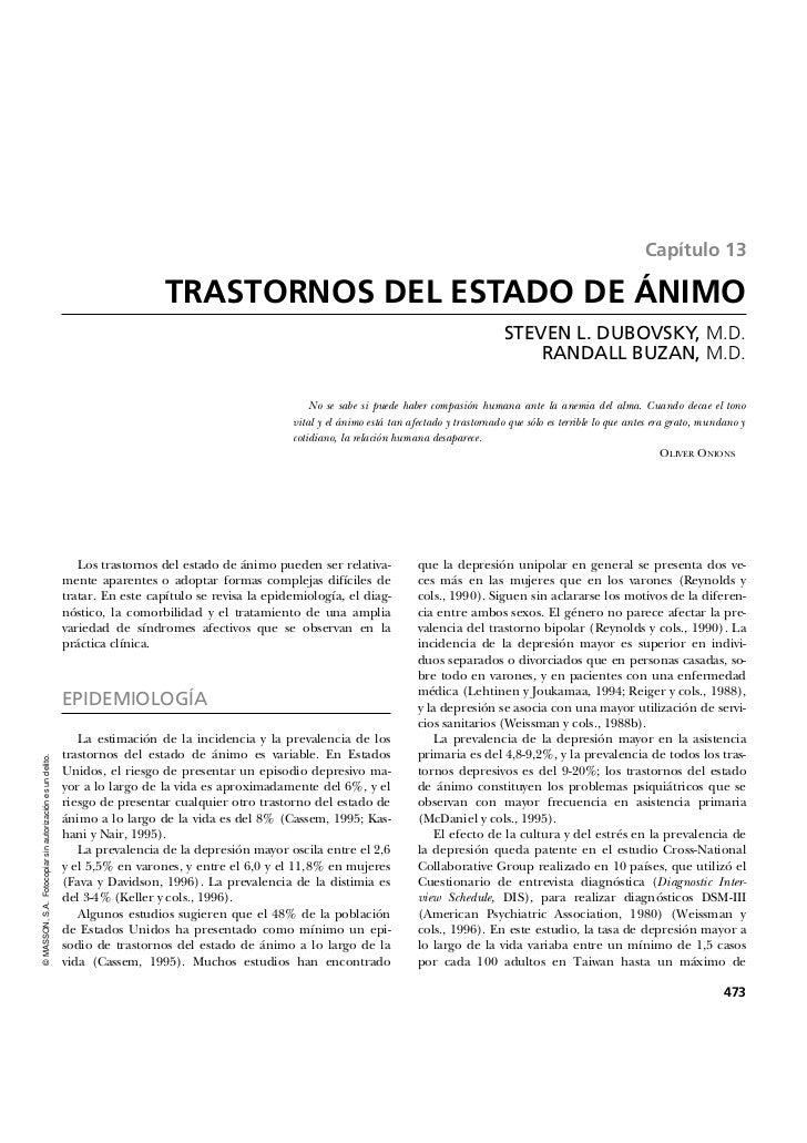 Capítulo 13                                                                              TRASTORNOS DEL ESTADO DE ÁNIMO   ...
