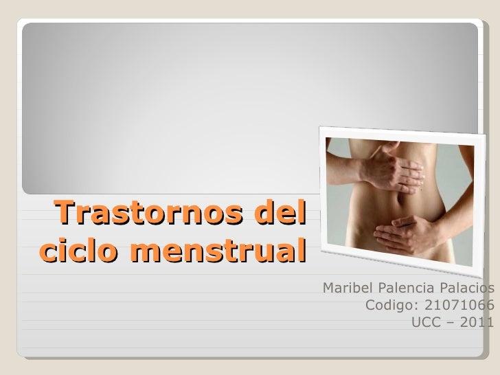Trastornos del ciclo menstrual grafica.