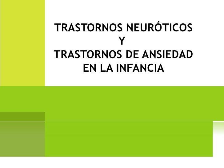 Trastornos neuróticos