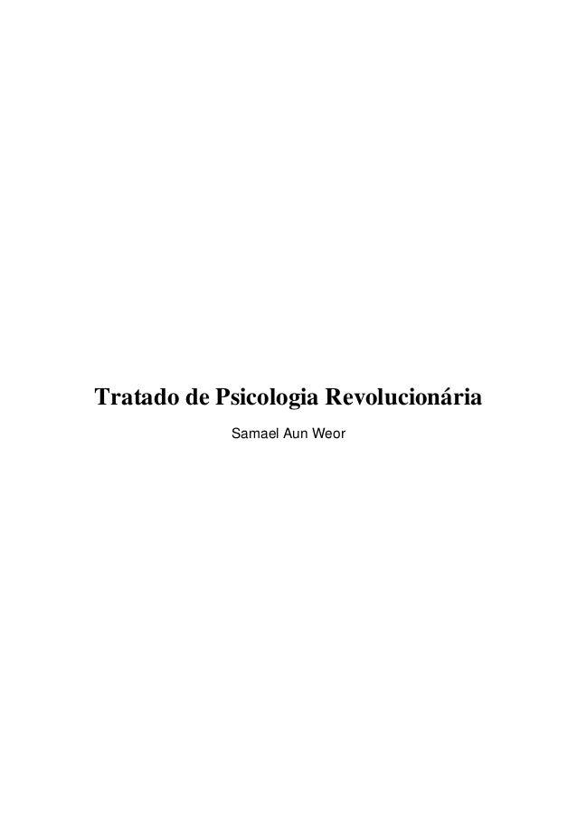 Tratado de Psicologia Revolucionária Samael Aun Weor