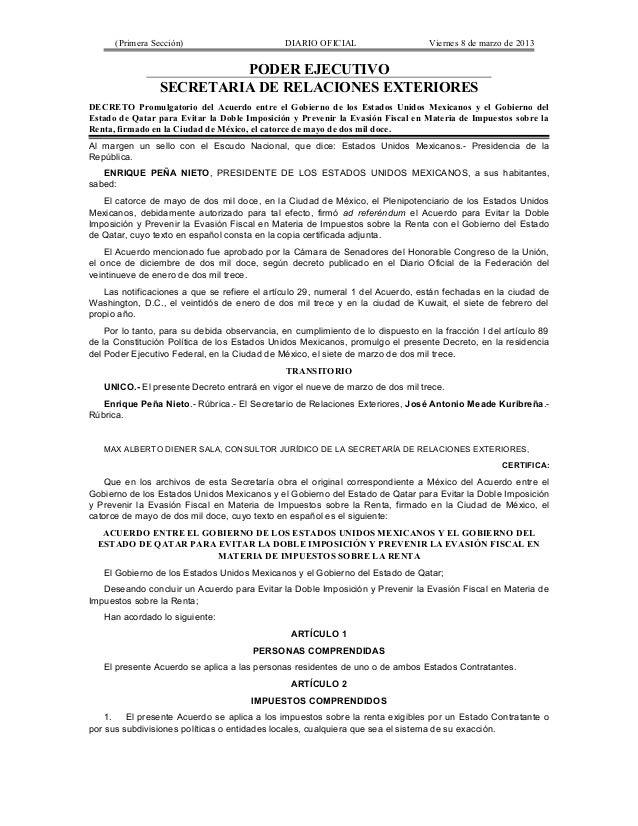 (Primera Sección)                       DIARIO OFICIAL                     Viernes 8 de marzo de 2013                     ...
