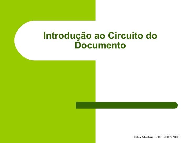 Introdução ao Circuito do Documento