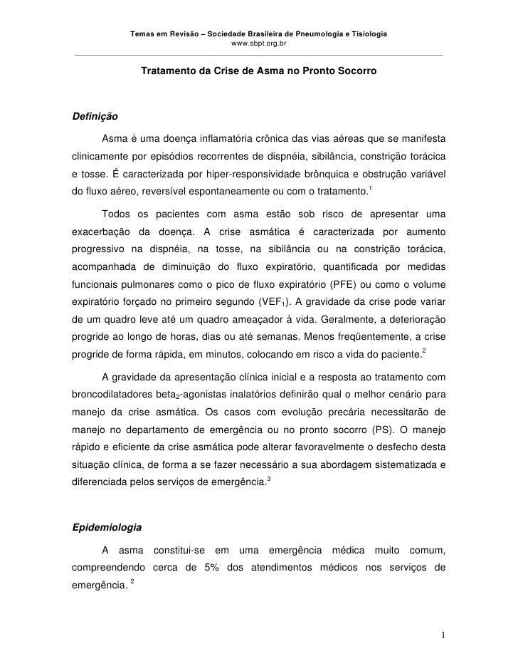 Temas em Revisão – Sociedade Brasileira de Pneumologia e Tisiologia                                      www.sbpt.org.br__...