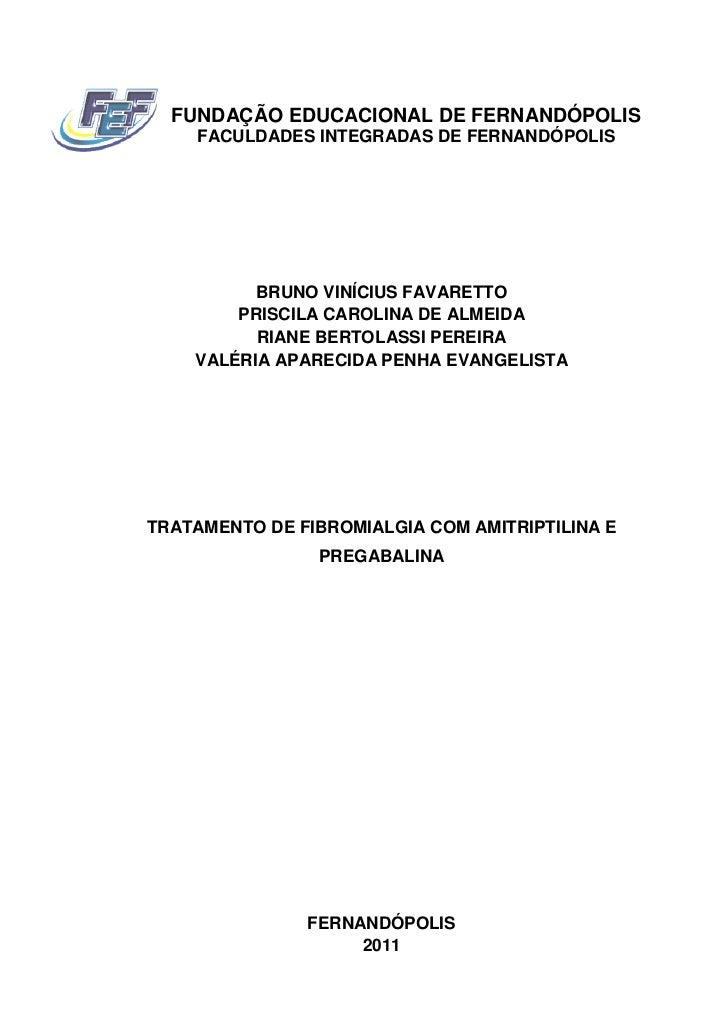 FUNDAÇÃO EDUCACIONAL DE FERNANDÓPOLIS    FACULDADES INTEGRADAS DE FERNANDÓPOLIS          BRUNO VINÍCIUS FAVARETTO        P...